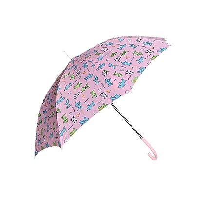 Betty Paraguas para niños Mango Largo Hombres y Mujeres Alumno para Lluvia y Sol Sombrilla Guardería