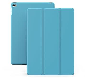 KHOMO Funda iPad Air 2 - Carcasa Azul Celeste Ultra Delgada y Ligéra con Smart Cover para Apple iPad Air 2 - Dual Blue