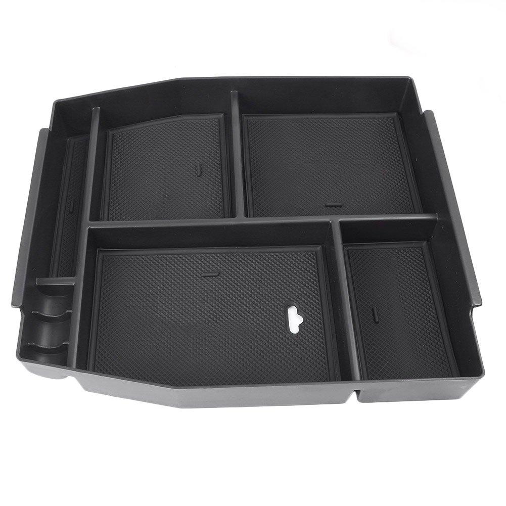 MALLOFUSA for Ford F-150 F150 2015-2018 Interior Car Center Console Armrest Storage Organizer Holder Tray Box 2073MU012