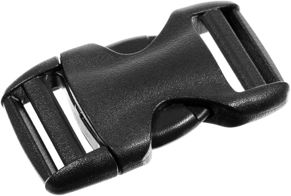 19mm black side release buckle Plastic buckle belt buckle Plastic snap buckles Dog Collar Strap Webbing Release buckle 34