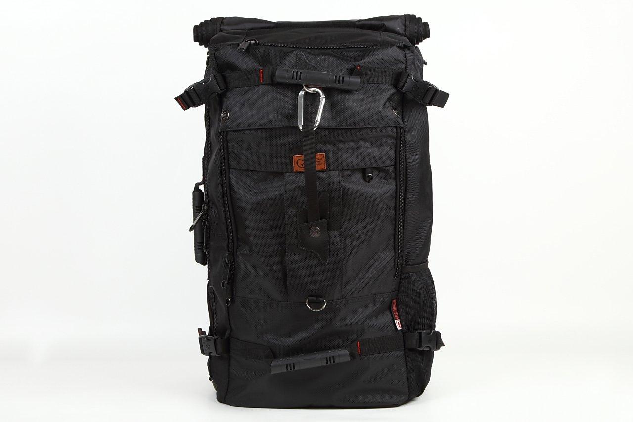 World Travel Equipment 3WAYバックパック 四角いからとにかくたくさん入る大容量 男女兼用/スクエアリュック/旅行出張用 (L, ブラック) B01NALMVEG Large|ブラック ブラック Large