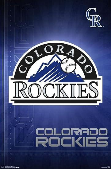 Amazon colorado rockies blueprint logo poster 22 x 34in colorado rockies blueprint logo poster 22 x 34in malvernweather Gallery
