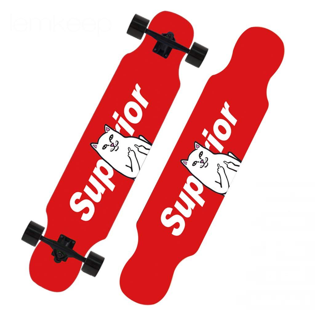 大注目 DUWEN E スケートボード初心者スケートボードロングボード大人のダンスボード男の子と女の子のブラシストリートティーンプロの旅行四輪スクーター (色 : E C) C) B07NRM8X89 E E, チタシ:a8c89971 --- a0267596.xsph.ru