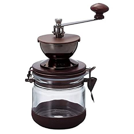 Ceramic Coffee Mill Canister Glass