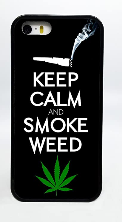 Keep Calm And Smoke Weed Joint With Leaf Phone Case Cover
