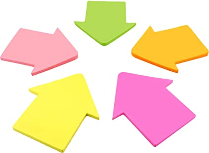 amazon com 4a shapes sticky notes arrow shape 2 72 x 2 56 inches