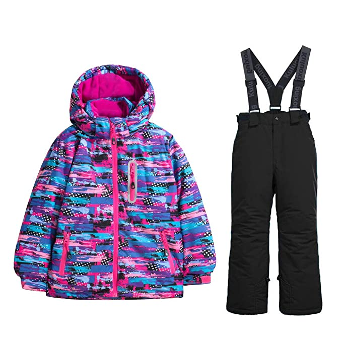 Amazon.com: GS nieve chamarra de esquí para niña + ...