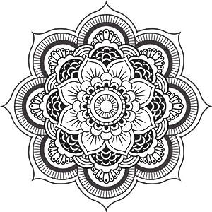 Amazon.com: DETAILED MANDALA DESIGN BLACK WHITE Vinyl Decal Sticker