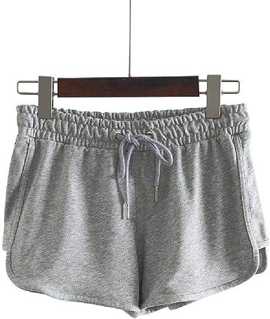 NOBRAND Pantalones cortos de verano para mujer, de algodón, sueltos, para el hogar, para yoga, deportes, bordados, ocio: Amazon.es: Ropa y accesorios