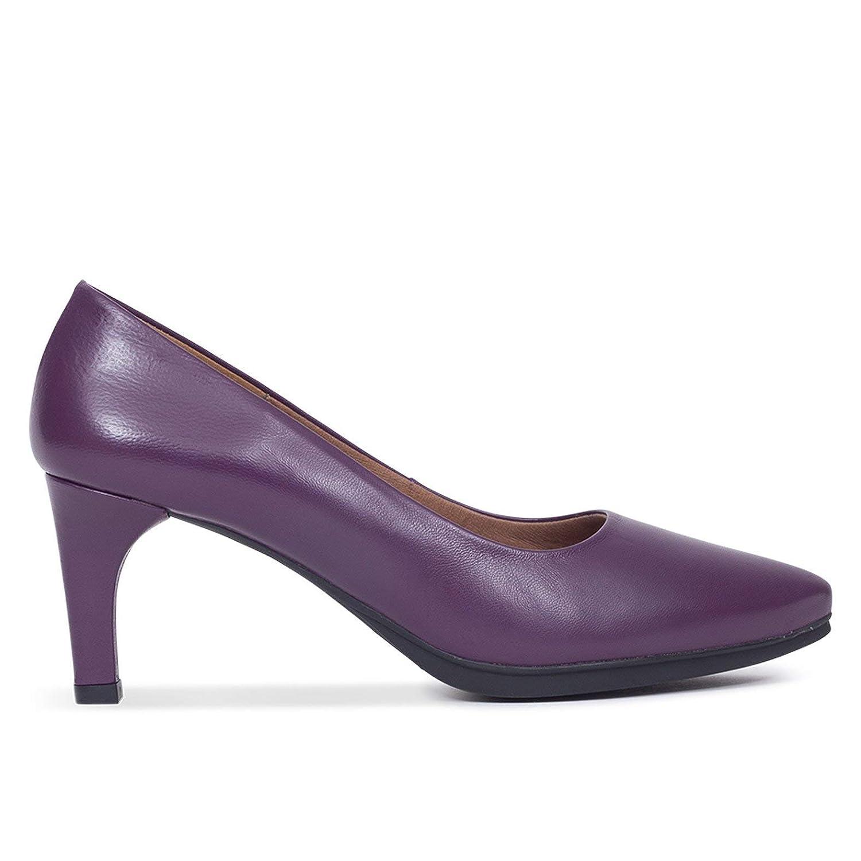 TALLA 39 EU. Zapatos Mujer tacón Zapatos 7cm Zapatos Fiesta Zapatos tacón Violeta Zapato Piel Mujer Zapatos Mujer Invierno Zapato salón Stiletto Zapatos Baile Latino