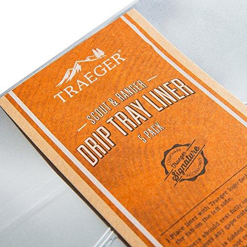 Get Traeger Bac458 Tray Liner Grilling Drip Pan Black At