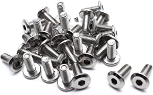 Cyful M6x15mm Stainless Steel Flat Head Hex Socket Cap Bolts Screws Countersunk Connector Fastener,Pack of 30
