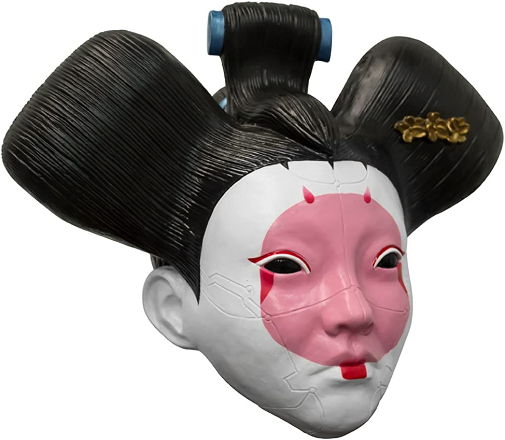 Amazon Com Ghoulish Productions Ghost In The Shell Geisha Robot Mask Adult Latex Licensed Cyber Cosplay Access Clothing