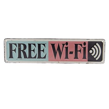 CE - Cartel de Chapa con WiFi Grande, Cartel de Metal ...