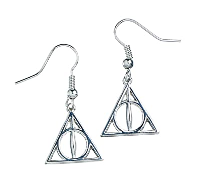 Official Harry Potter Deathly Hallows Symbol Drop Silver Plated