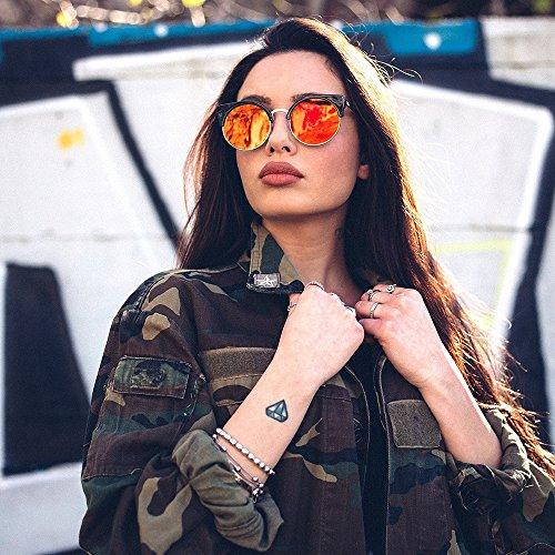 hombre sol Gafas HEGEL de mujer redondo TWIG Multicolor espejo PqqHwY5