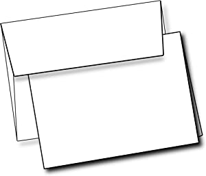 """Heavyweight White Blank Cards With White Envelopes 5""""x 7"""" Folded Greeting Cards Blank Cards And Envelopes Printable Note Cards With Corresponding Envelopes (40 Pack)"""