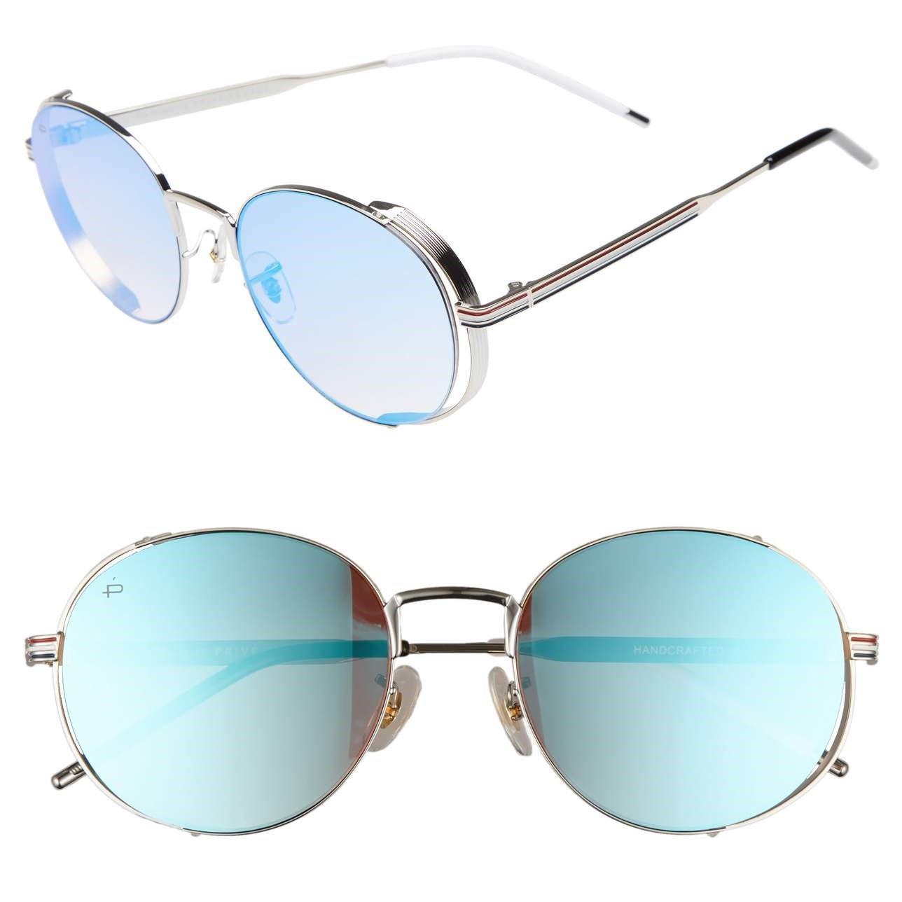 "f1cc48e8175ab Amazon.com  PRIVÉ REVAUX ICON Collection ""The Riviera"" Designer Round  Sunglasses  Clothing"