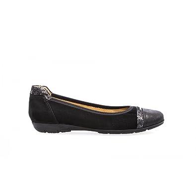 Gabor Ballerines Classiques Noires Noir 38 5 Amazon Fr