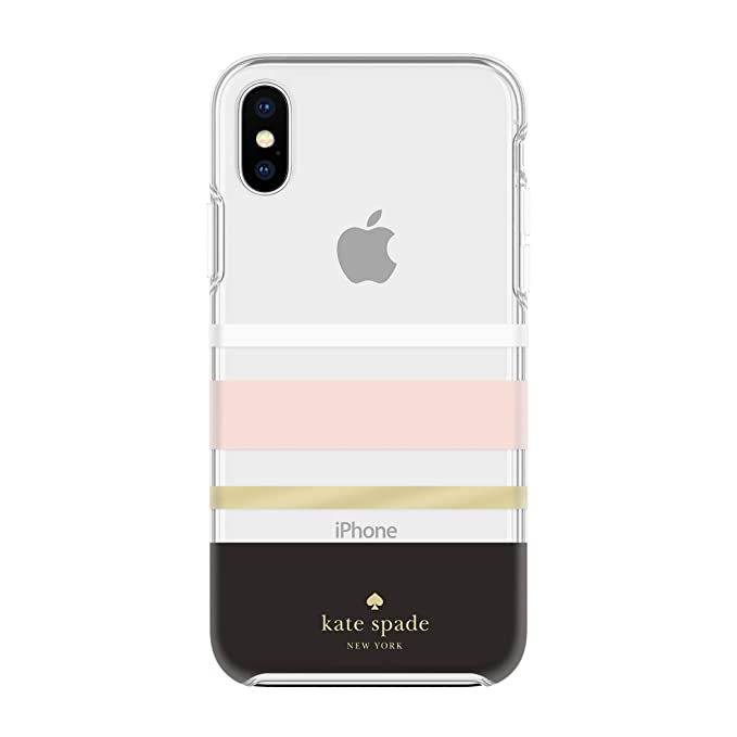 pretty nice dd791 cf9df Kate Spade New York Phone Case for Apple iPhone Xs Max Protective Phone  Cases with Slim Design Drop Protection and Floral Print, Charlotte Stripe  ...