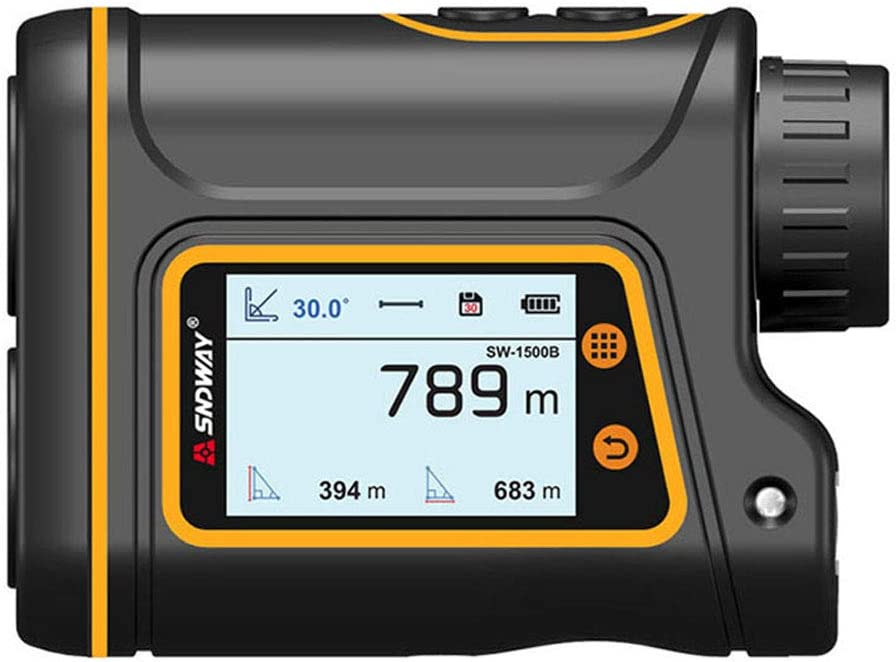 YI-SHAN Laser Range Digital Buscador telémetro láser para Golf Laser Range Finder Caza Cinta métrica de Ruleta Deportes Prueba de Velocidad de láser, Telescopio HD,1500m