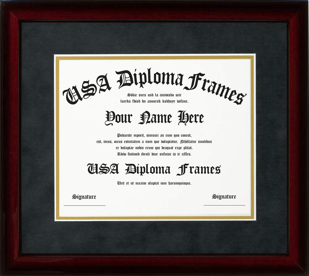 Cherry Glossy Mahogany Diploma Frame (11x14 documents or certificates)