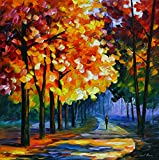 September is a Limited Edition print from the Edition of 400. The artwork is a hand-embellished, signed and numbered Giclee on Unstretched Canvas by Leonid Afremov. Embellishment on each of these pieces will be slightly different, but the image itsel...