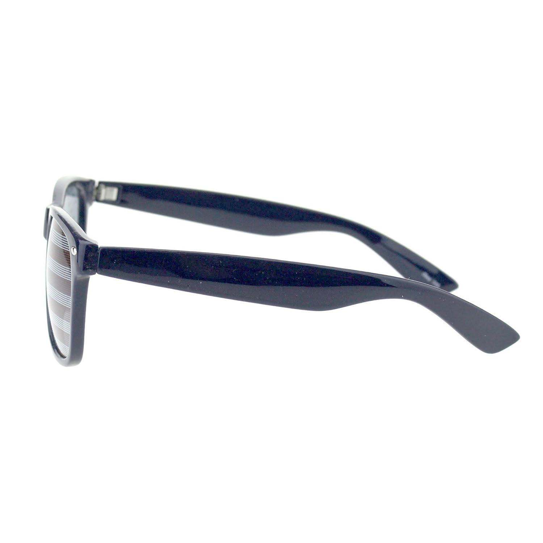 Mens American Flag Print Lens Hipster Horn Rim Plastic Sunglasses