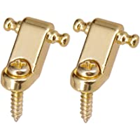 D DOLITY Set of 2 Durable Roller String Tree Guides Retainer Kit for ST Electric Guitar - Gold