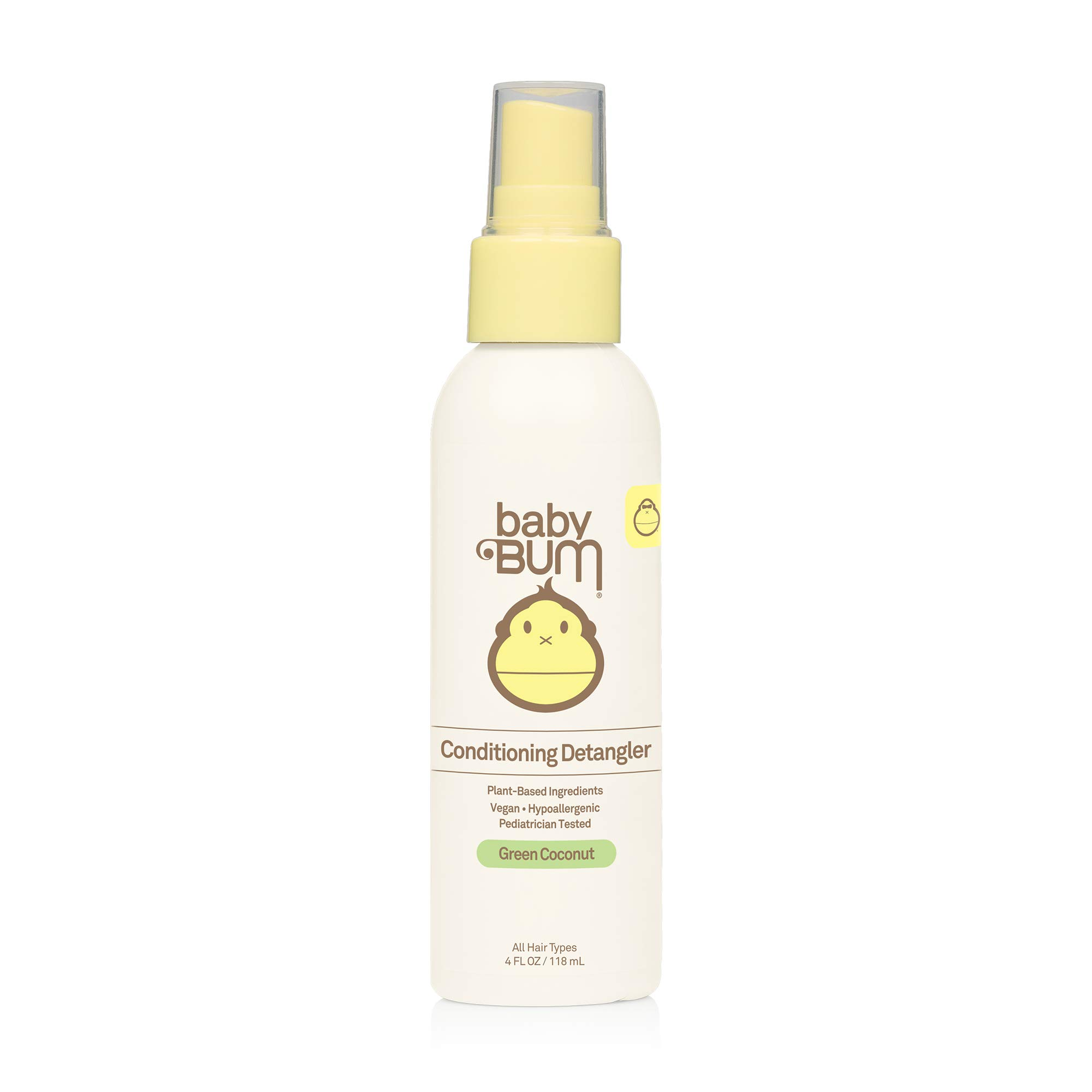 Baby Bum Conditioning Detangler Spray I Leave-In Conditioner Treatment with Soothing Coconut Oil, Natural Fragrance, Gluten Free and Vegan I 4 FL OZ