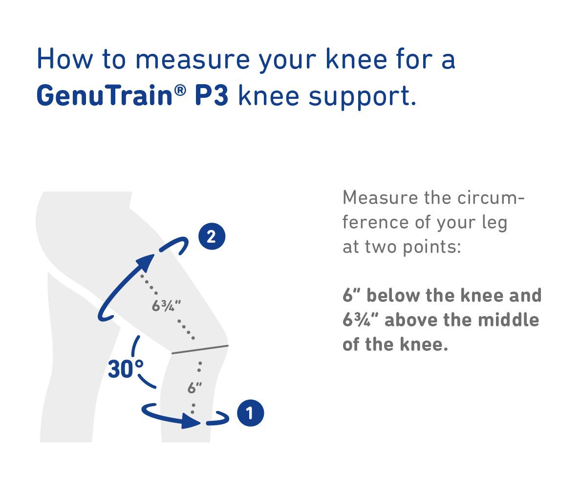 Bauerfeind - GenuTrain P3 - Knee Support - for Misalignment of The Kneecap - Left Knee - Size 1 - Color Black