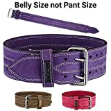 MRX BOXING & FITNESS MRX Power Lifting Leather Belt Gym Bodybuilding Training Fitness Back Support Belts with Steel Buckle Review
