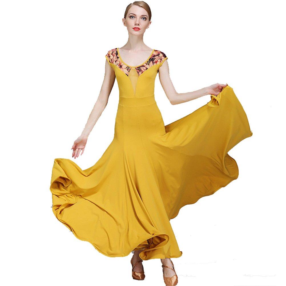 YILINFEIER DRESS レディース B076GZ3NQ9  イエロー XX-Large