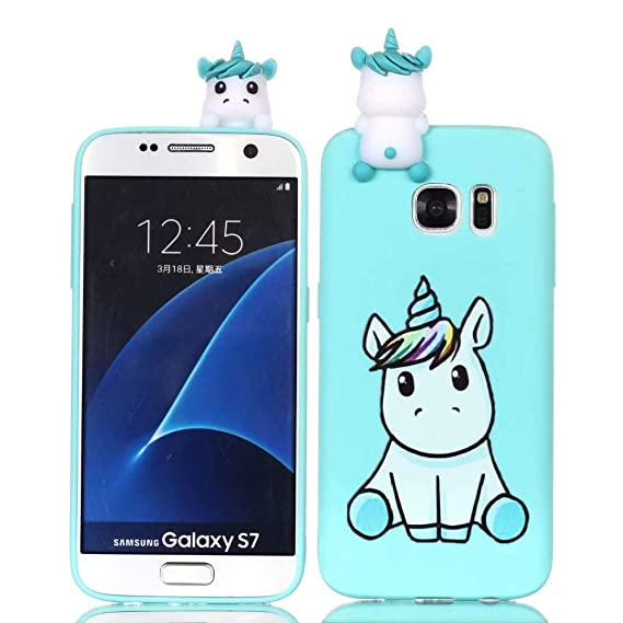 check out 2b183 bc299 Samsung Galaxy S7 Case, iFunny Cute 3D Cartoon Animals Unicorn Panda  Shockproof and Full Protective Soft Silicone Rubber Phone Case for Samsung  Galaxy ...