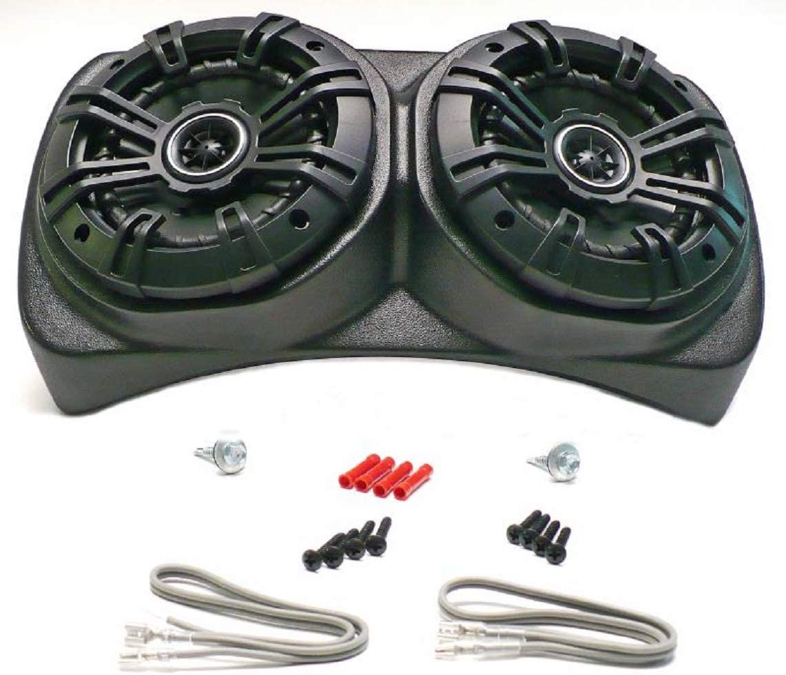 Select Increments 1955-1995 Compatible with Jeep CJ YJ Wrangler Centra Pod with Kicker 5.25 Speakers 91970K