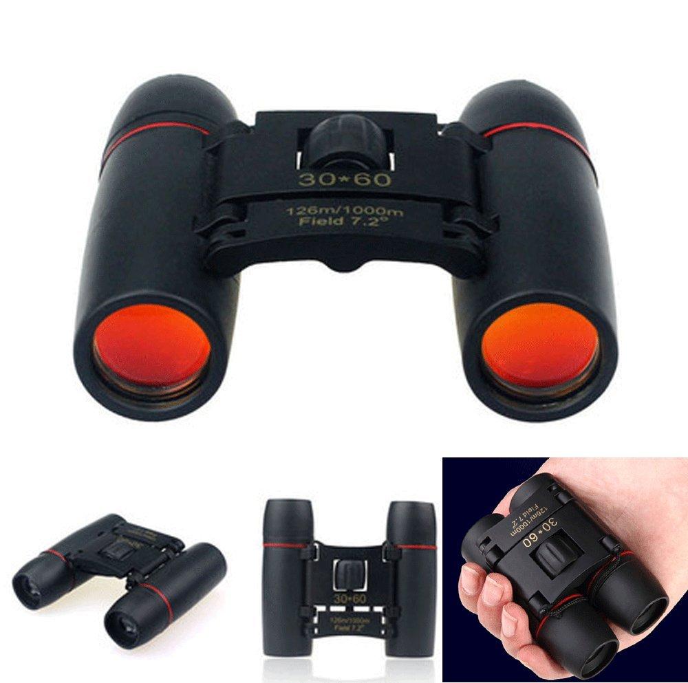 Day Night Vision Binoculars 30 x 60 Zoom Outdoor Travel Folding Telescope Bag