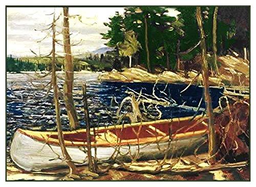 Orenco Originals Tom Thomson's The Canoe Lake Trees Canada L