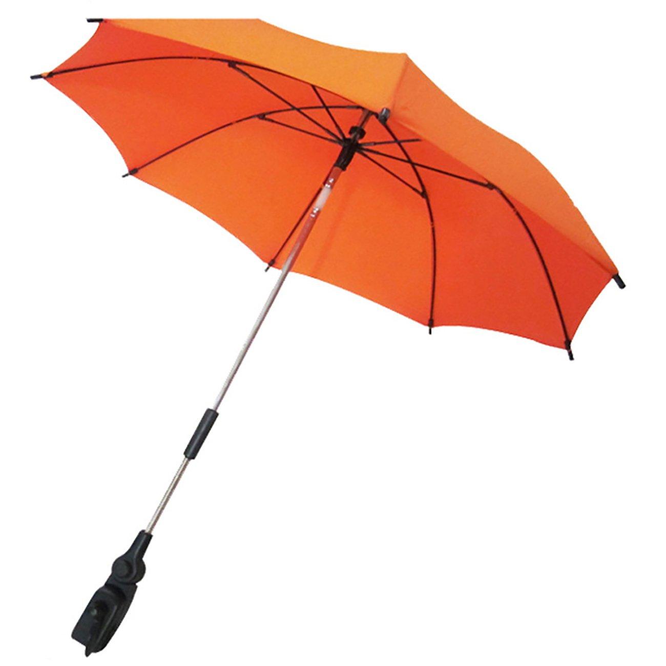 THEE Wheelchair Pushchair Baby Stroller Parasol Rain Sun Canopy Stretchable Pram Stroller Umbrella Holder Clip Clamp