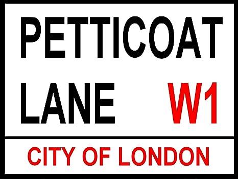Petticoat Lane: Metal Londres calle señal: pared placa: Hombre cobertizo: Casa Pub