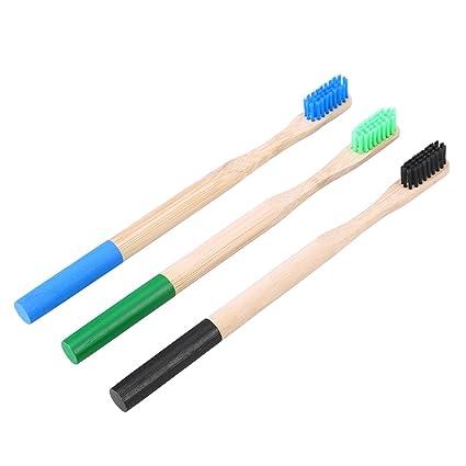 Supvox Cepillos de dientes de bambú Cerdas de carbón de leña ...