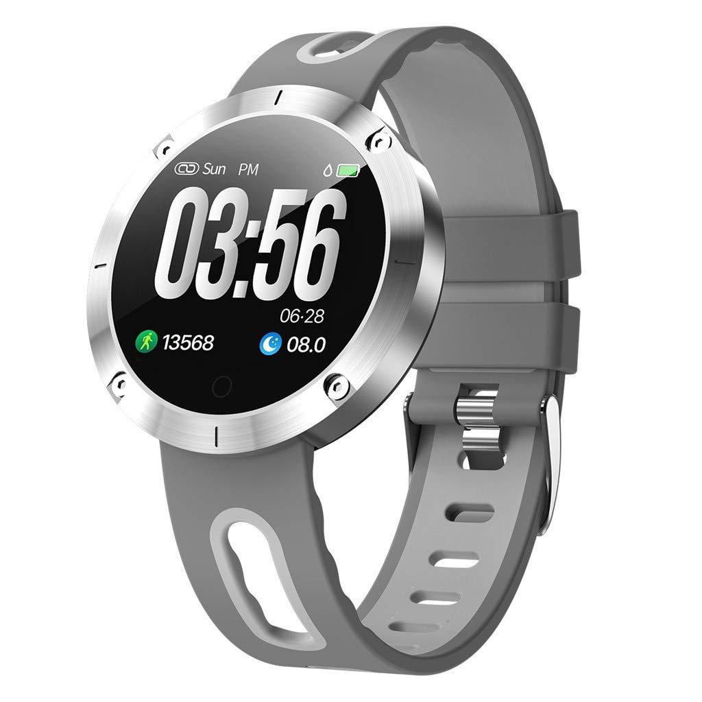 Smart Watch Fitness Tracker Heart Rate Blood Pressure,DM58PLUS Male Female Heart Rate Monitoring Bluetooth Sports Smart Watch (Silver)