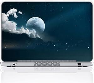 Meffort Inc 15 15.6 Inch Laptop Notebook Skin Sticker Cover Art Decal (Free Wrist pad) - Full Moon Night Sky
