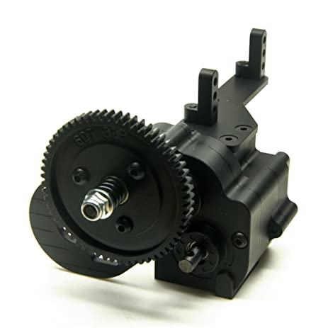 1PC Black 2 Speed Aluminum Transfer Case Gearbox For 1 10 RC Car AX2 Axial