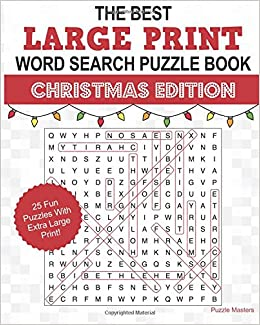 The Best Large Print Christmas Word Search Puzzle Book A