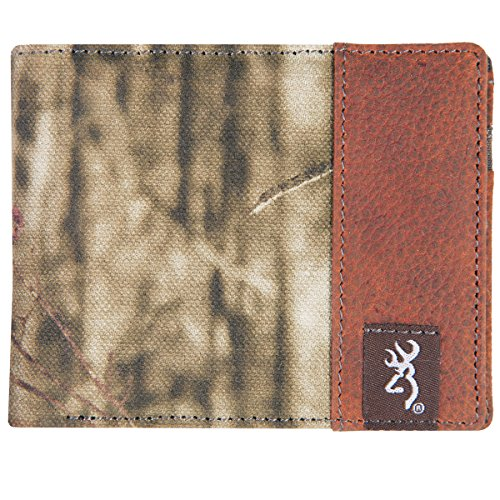 Browning Camo Bi-Fold Canvas Wallet - Leather Interior