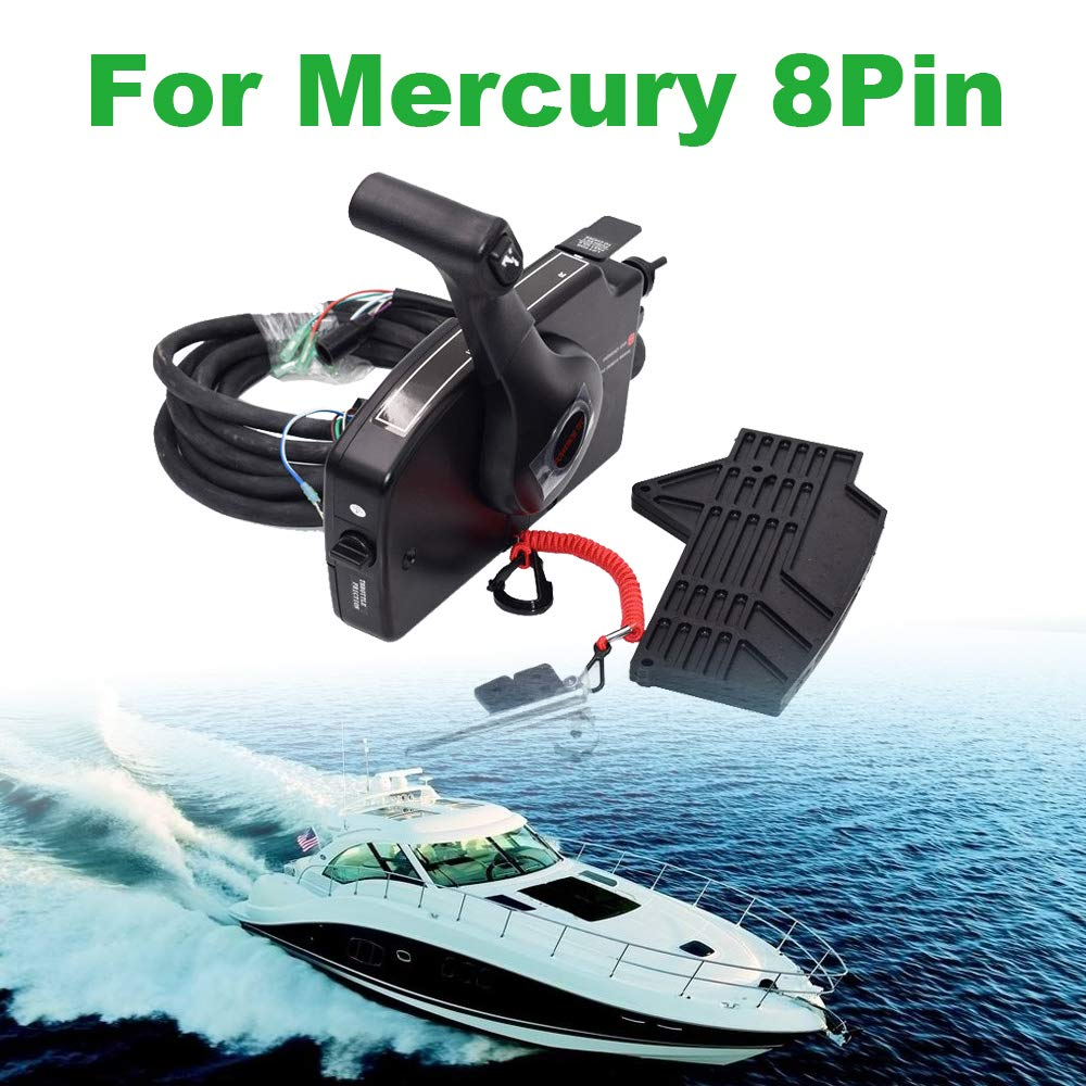 Outboard Remote Control Box,8Pin Right Boat Motor Side Mount Remote Control Box with Cable for Mercury Outboard Engine by WonVon
