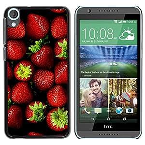 TopCaseStore / la caja del caucho duro de la cubierta de protección de la piel - Berries Summer Green - HTC Desire 820