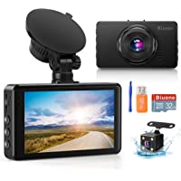 Dash Camera for Cars Super Night Vision Dash Cam Front and Rear 1080P FHD DVR Car Dashboard Camera with 170°Wide Angle…