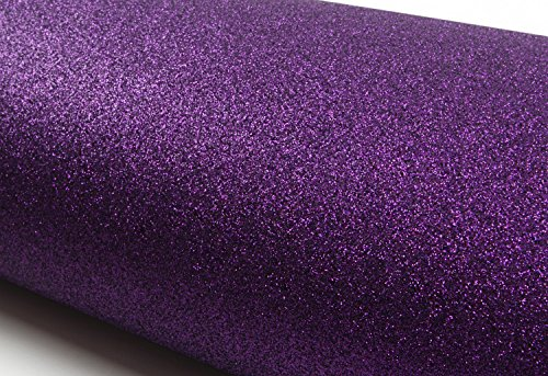Peel & Stick Glitter Sand Contact paper Shelf Liner Table and Door Reform Violet : 11.81inch X 48.03inch