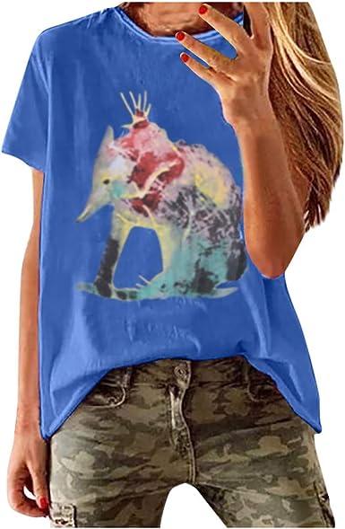 Meikosks Ladies Off Shoulder Blouses Lace Patchwork Tops Floral Printed Pullover Short Sleeve Tshirt